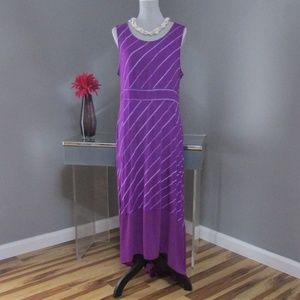 NEW Apt. 9 Violet Purple Maxi Dress PXL
